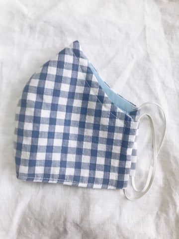 Exeter Masks Reusable Cloth Face Mask - Dark Blue Gingham