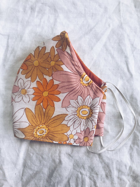 Exeter Masks Reusable Cloth Face Mask - Vintage Daisy