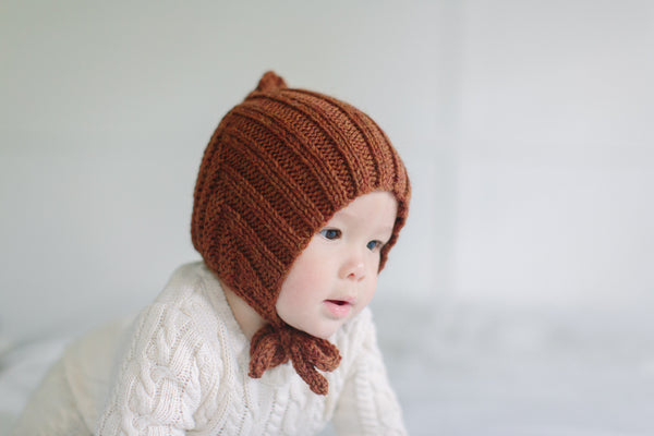 Tiny Pixie hat - Sienna (100% wool)