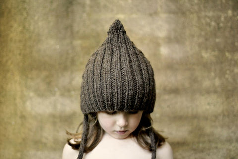 Chubby Pixie hat - Chocolate