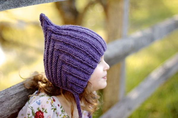 Chubby Pixie hat - Purple
