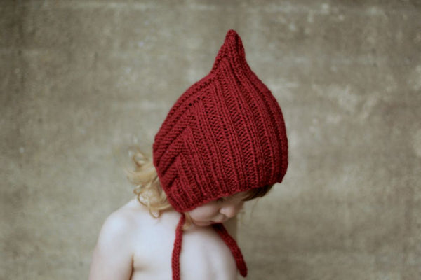 Chubby Pixie hat - Red