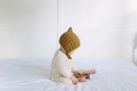Tiny Pixie hat - Straw