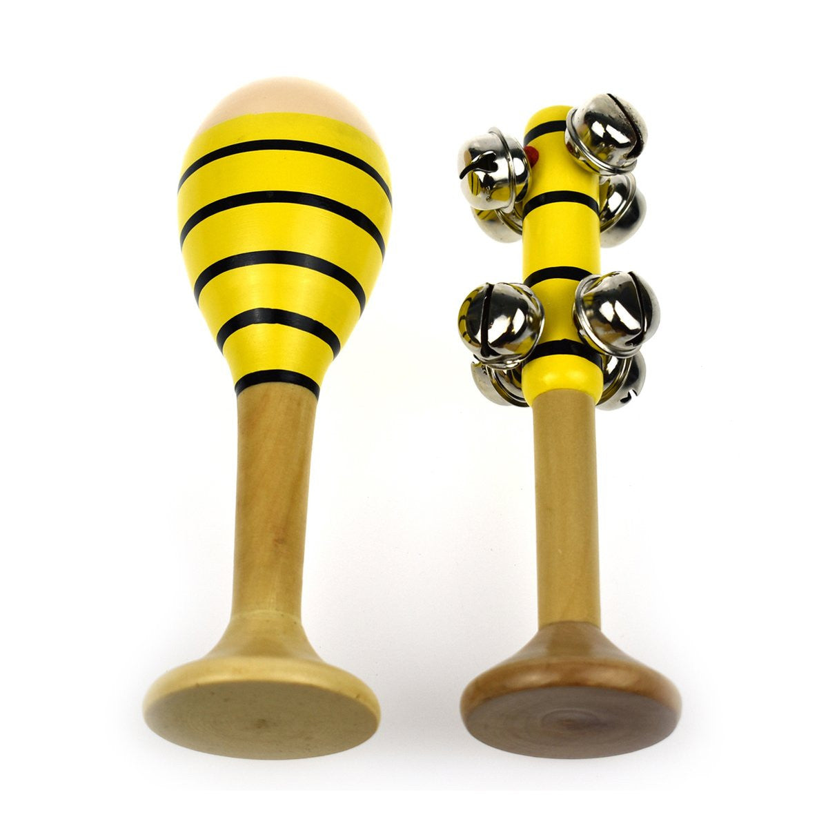 Bee Maraca & Bell Stick Set