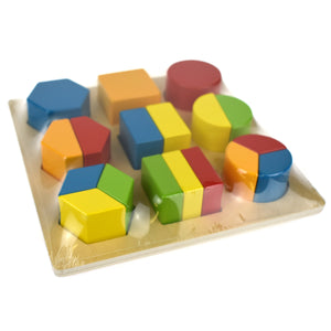 Block Puzzle Shapes and Fractions