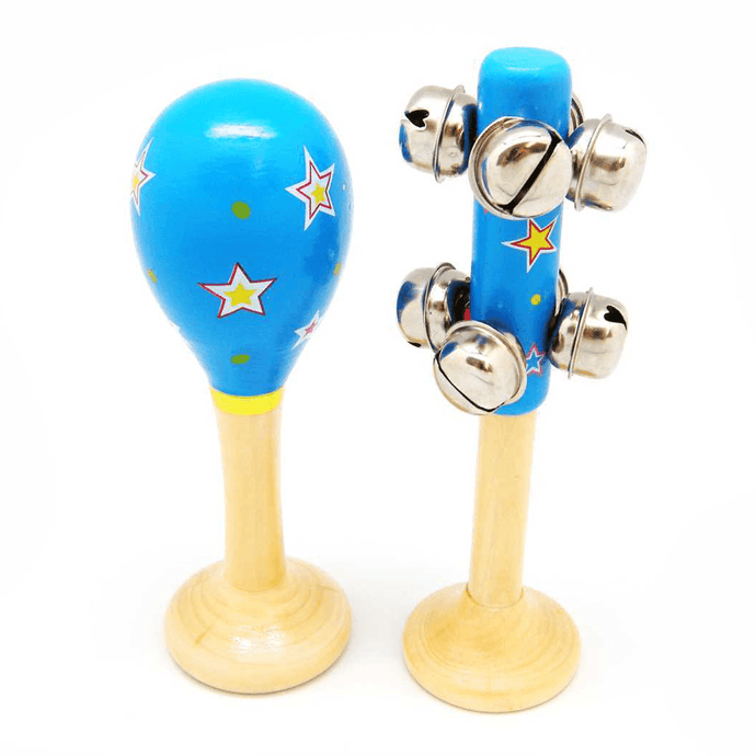Blue Star Maraca & Bell Stick Set Kaper Kidz