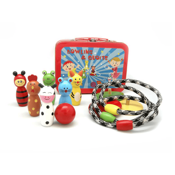 Bowling & Hoop Set With Carry Case