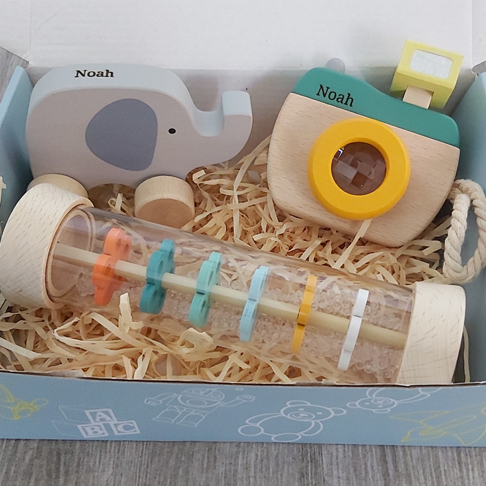 Personalised Camera and Elephant Gift Pack