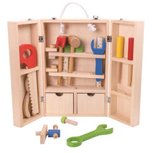 Carpenter Set With Wooden Carry Case