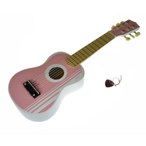 Wooden Guitar 54CM - Lily Pink