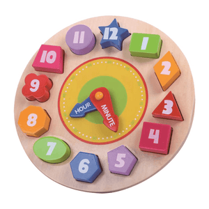 Wooden Clock Puzzle Tooky Toy