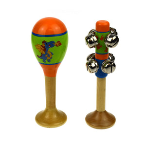 Dragon Maraca & Bell Stick Set