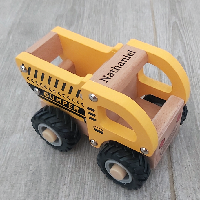 Personalised Wooden Dump Truck