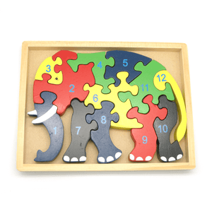 Elephant Jigsaw - 12 Pieces