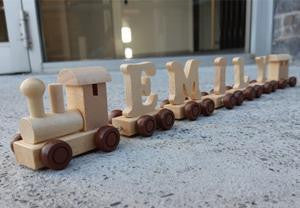 Wooden Personalised Name Train