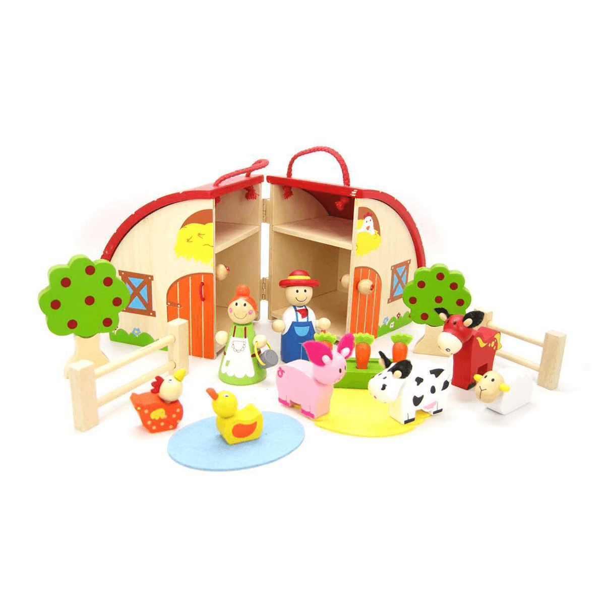 Farm Playset With Carry House Kaper Kidz