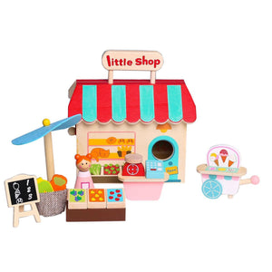 Grocery Store Playset With Carry House