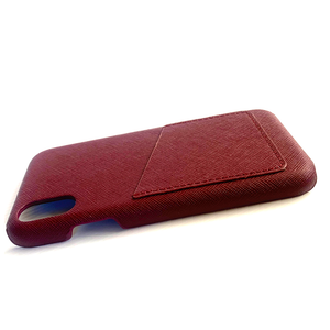 IPHONE X/XS  BURGUNDY SAFFIANO LEATHER CASE
