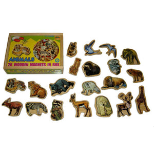 Magnetic Animal Wooden Box