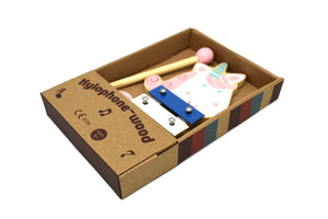 Wooden Unicorn Xylophone Kaper Kidz packaging