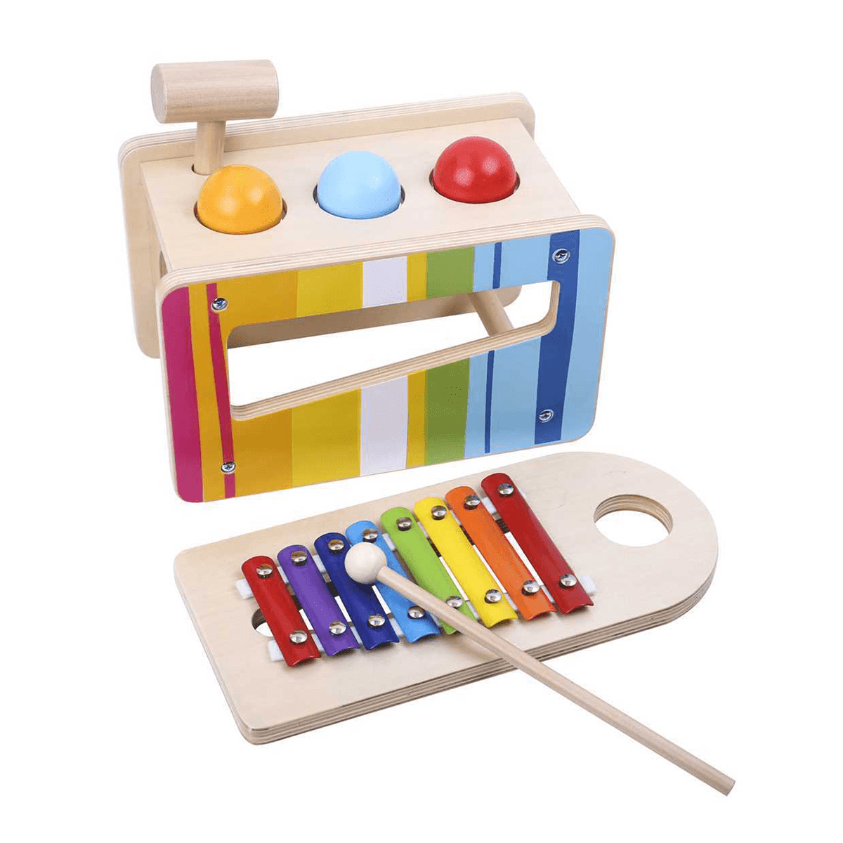Pound and Tap Bench with Xylophone Tooky Toy