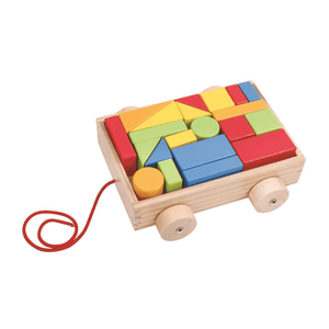 Pull Along Block Cart Tooky Toy