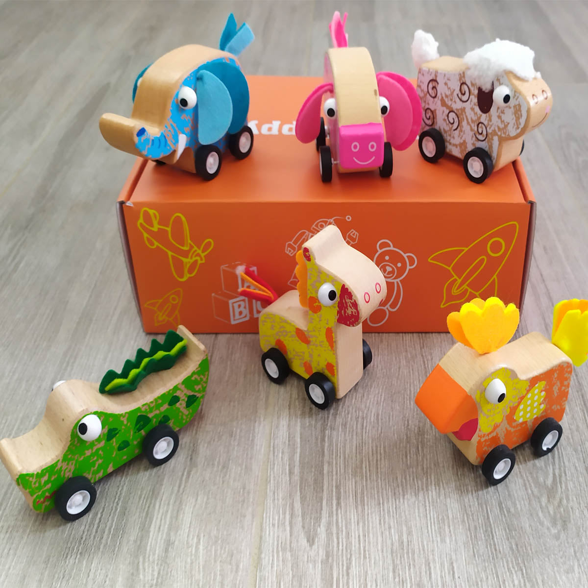 Cute Animal Pull Back Gift Box
