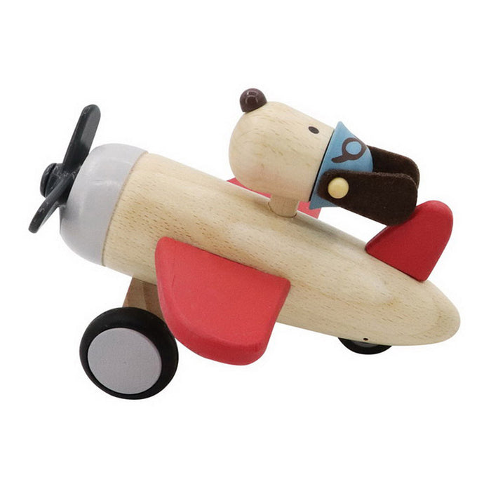 Retro Plane with Dog Pilot- Red