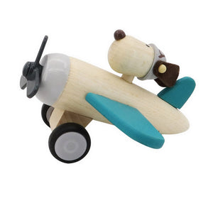 Retro Plane with Dog Pilot- Teal