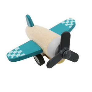 Retro Pull Back Plane - Teal