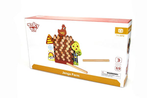 Jenga Farm Tooky Toy packaging
