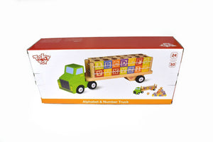 Alphabet & Number Truck Tooky Toy packaging