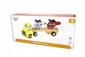 Helicopter & Carrier Tooky Toy packaging
