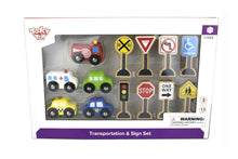 Transportation & Sign Set Tooky Toy packaging