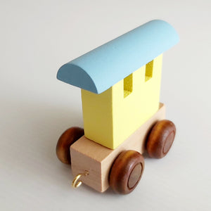 Coloured Personalised Wooden Name Train