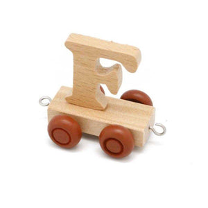 Wooden Train Letter F