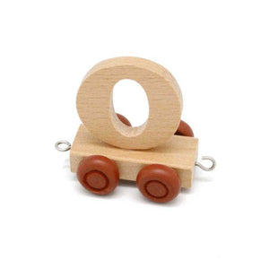 Wooden Train Letter O