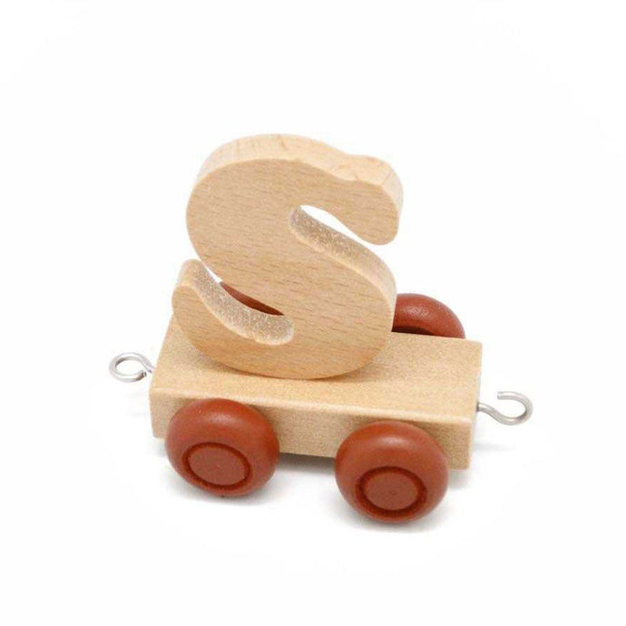 Wooden Train Letter S