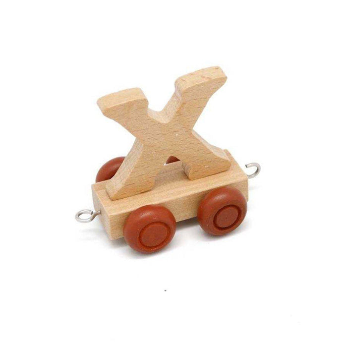 Wooden Train Letter X