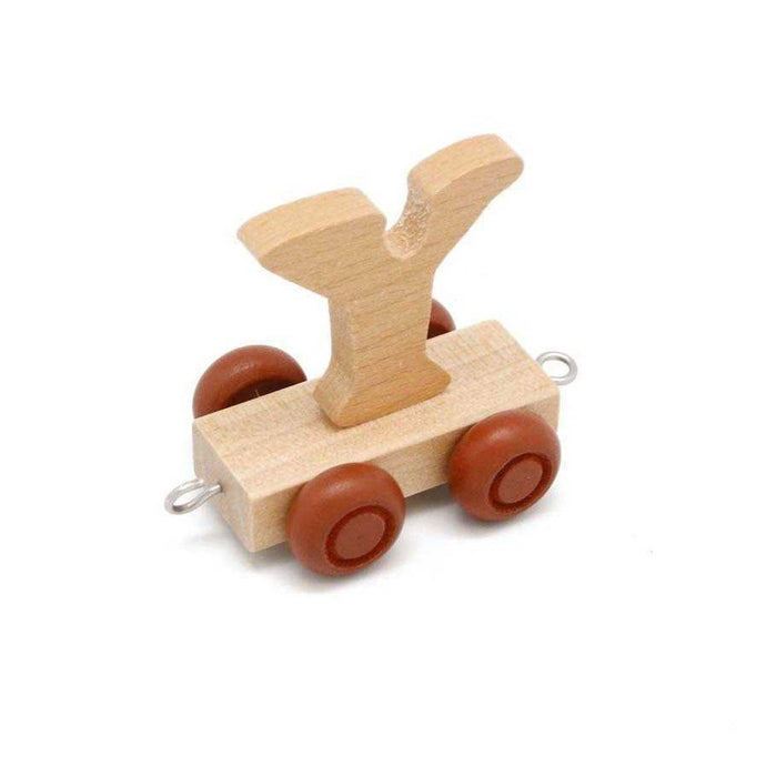Wooden Train Letter Y