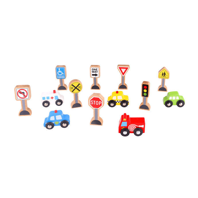Transportation & Sign Set Tooky Toy