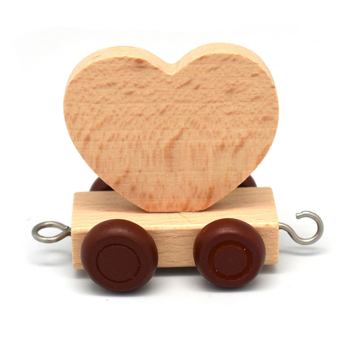 Wooden Train Cute Heart