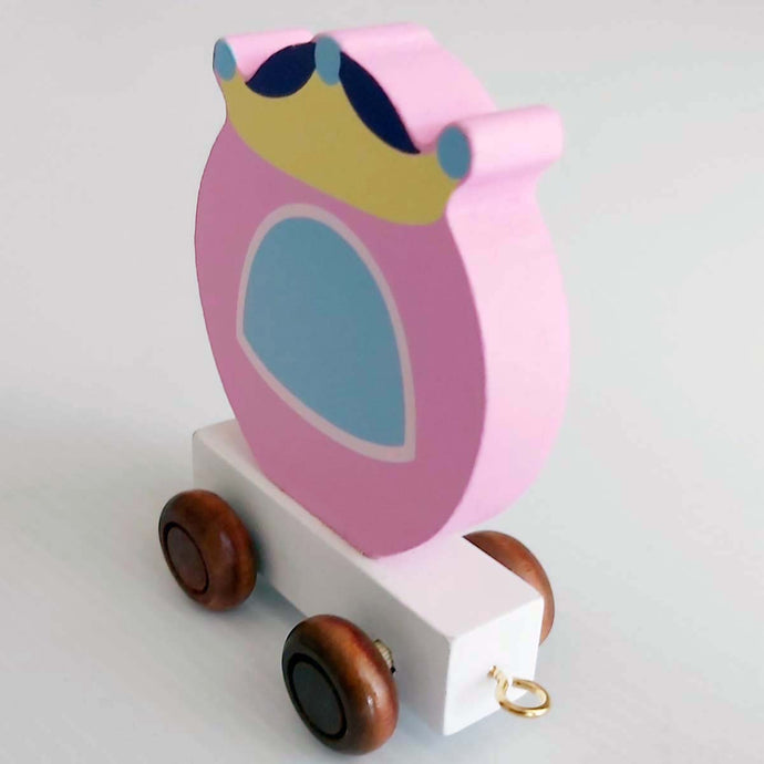 Wooden Coloured Princess Carriage