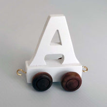 Wooden Coloured Train Letter A