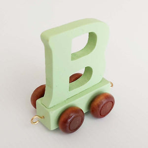 Wooden Coloured Train Letter B