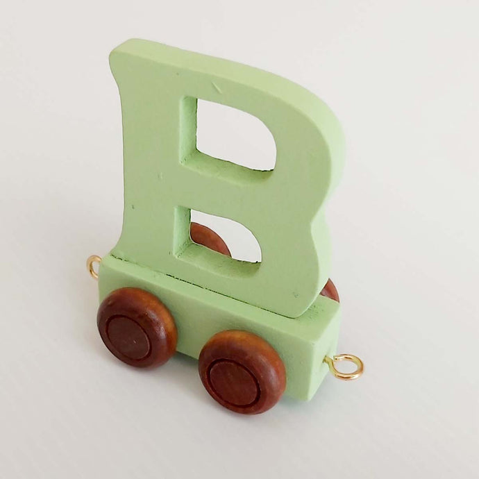 Wooden Coloured Letter B