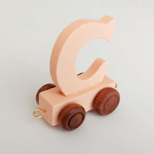 Wooden Coloured Train Letter C