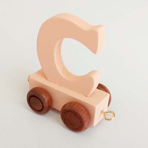 Wooden Coloured Letter C