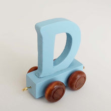 Wooden Coloured Train Letter D