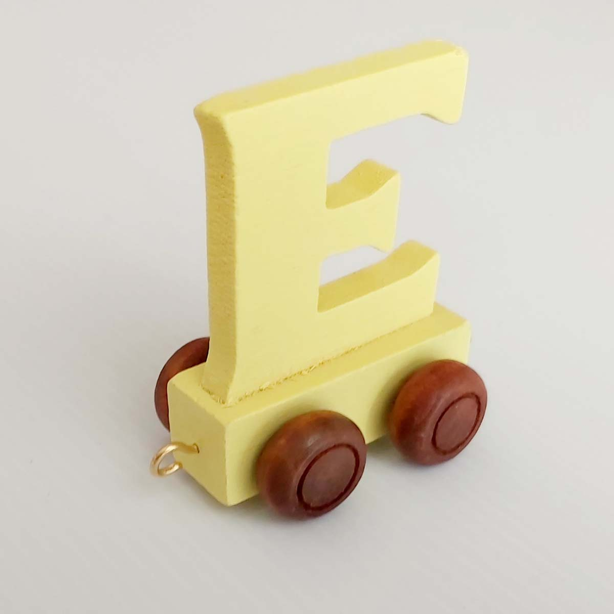 Wooden Coloured Train Letter E